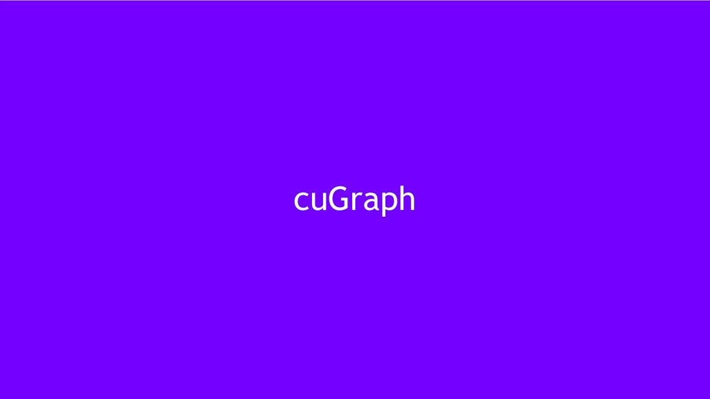30 cuGraph