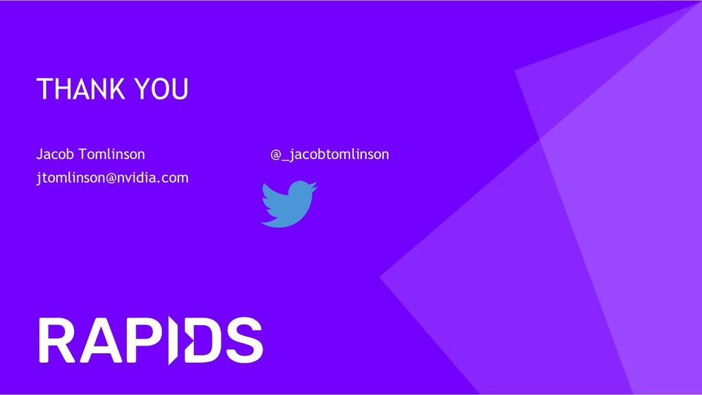 THANK YOU Jacob Tomlinson @_jacobtomlinson jtom...
