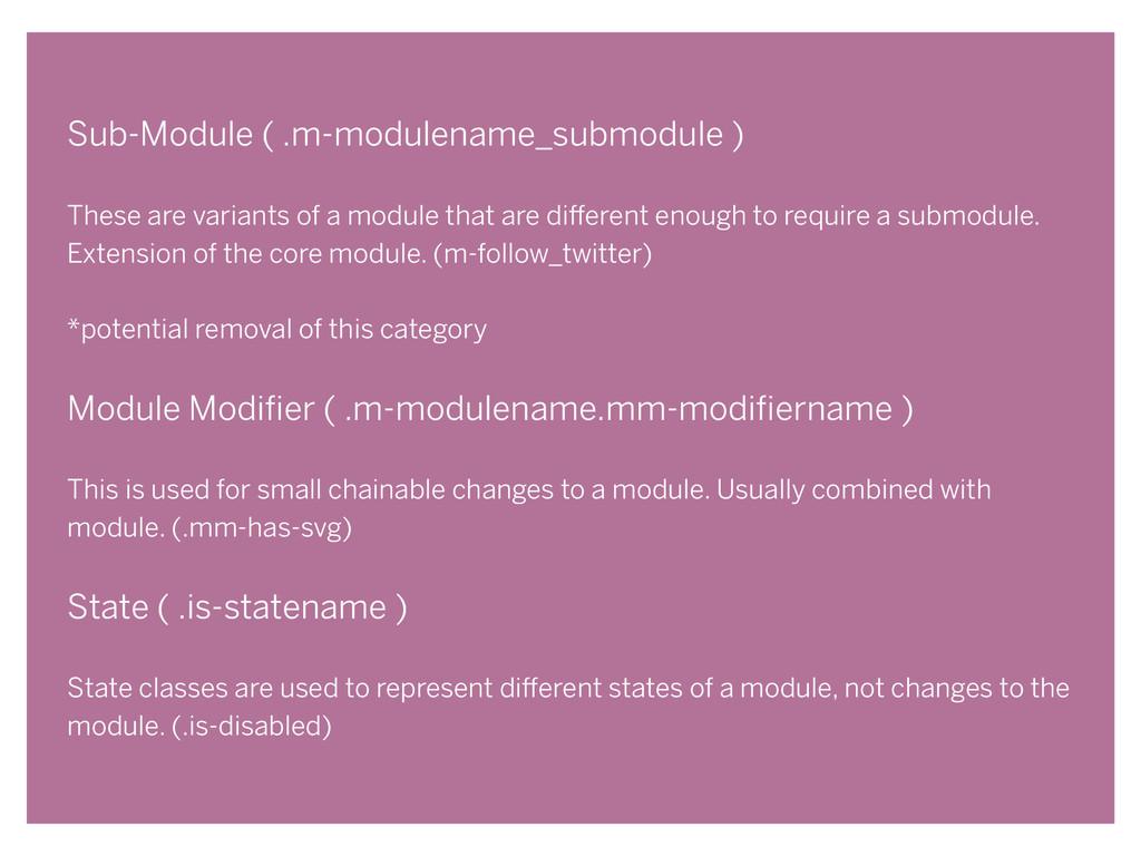 Sub-Module ( .m-modulename_submodule ) ! These ...