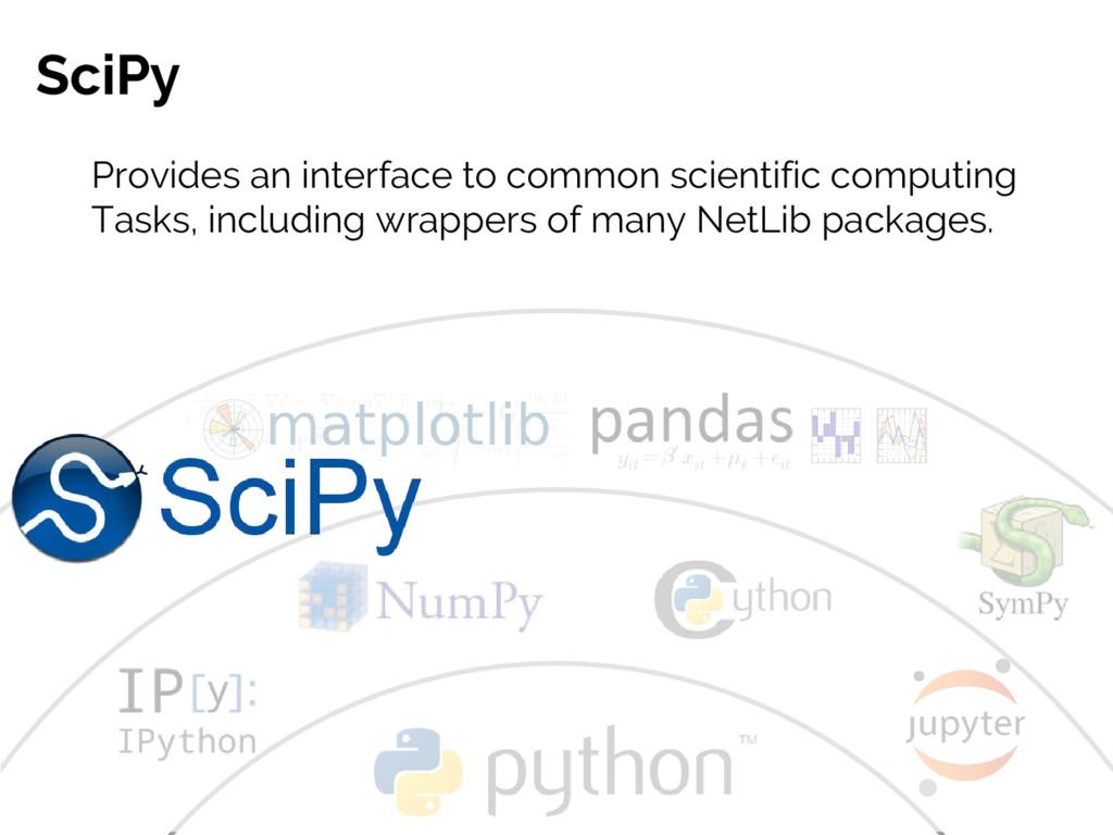 #JSM2016 Jake VanderPlas SciPy Provides an inte...