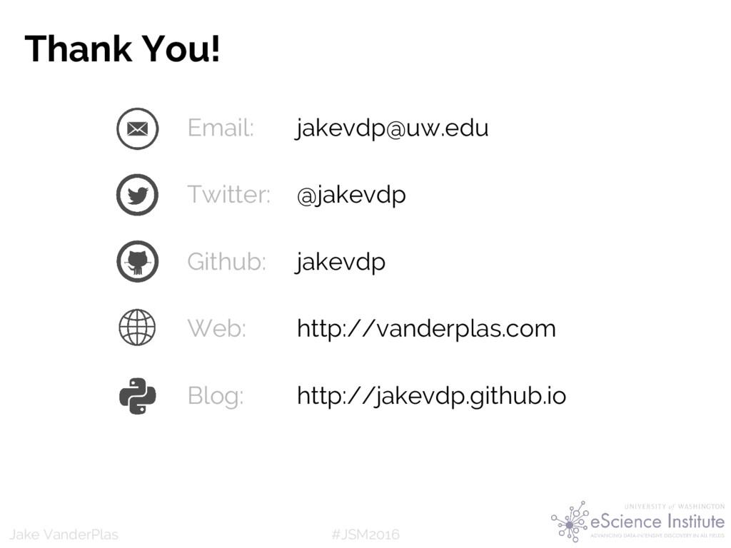 #JSM2016 Jake VanderPlas Email: jakevdp@uw.edu ...