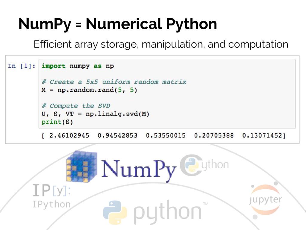 #JSM2016 Jake VanderPlas NumPy = Numerical Pyth...