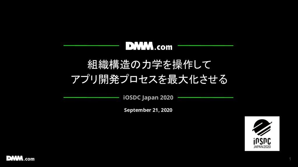 組織構造の力学を操作して アプリ開発プロセスを最大化させる iOSDC Japan 2020 ...