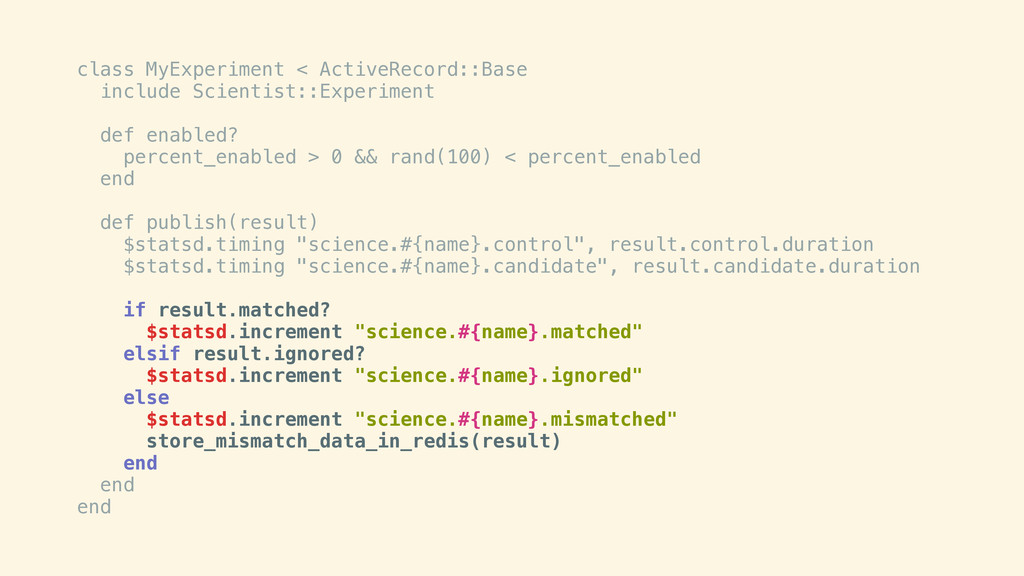 class MyExperiment < ActiveRecord::Base include...