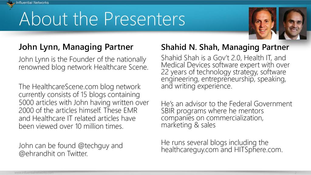 2 Influential Networks www.influentialnetworks....