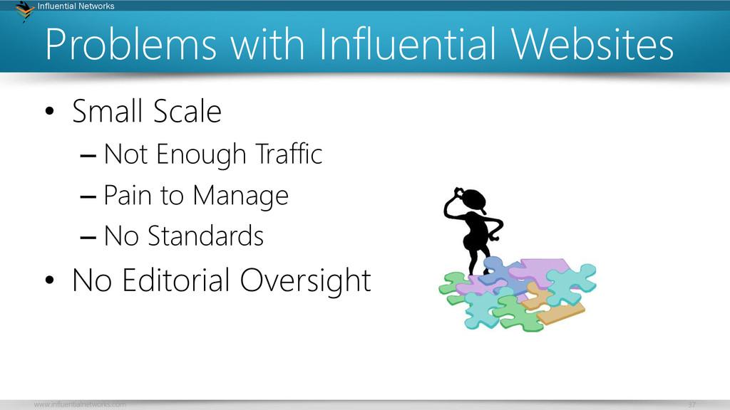 www.influentialnetworks.com 37 Influential Netw...