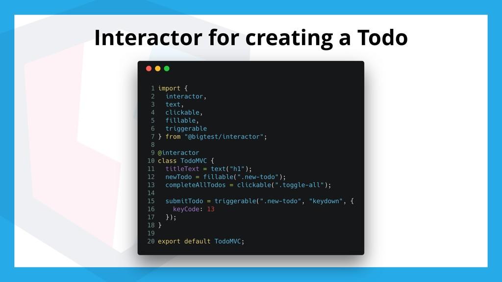 Interactor for creating a Todo