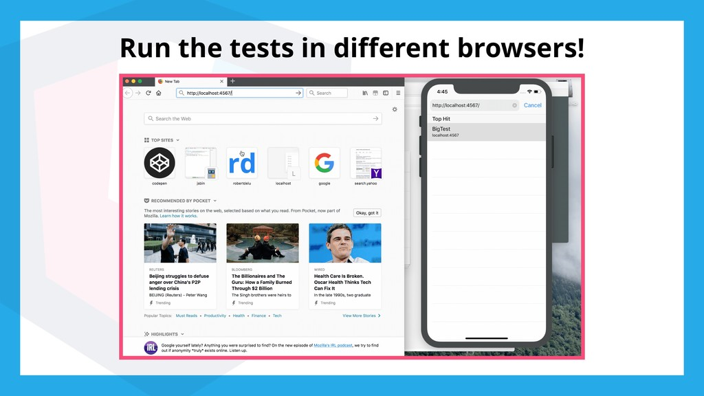 Run the tests in different browsers!