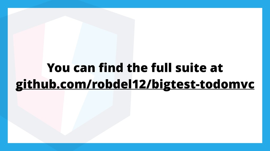 You can find the full suite at github.com/robdel...