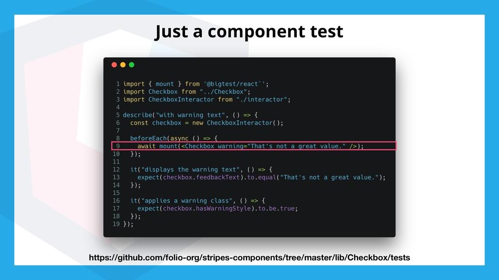 Just a component test https://github.com/folio-...