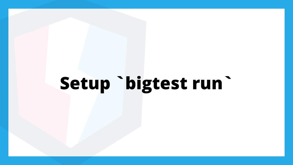 Setup `bigtest run`
