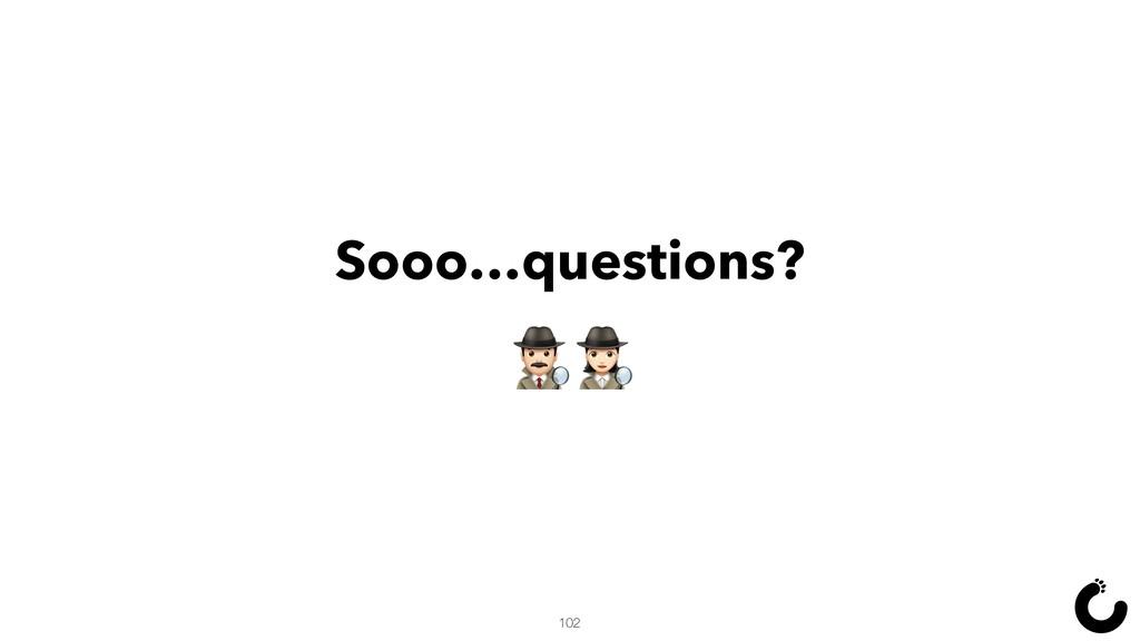Sooo…questions? Ÿ& 102