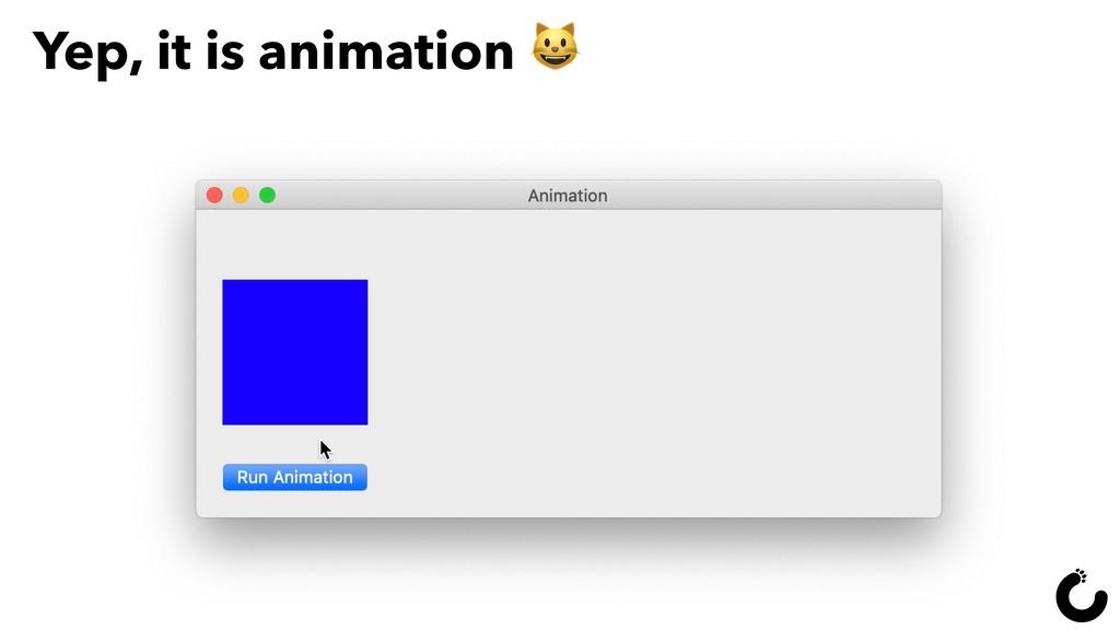 Yep, it is animation  8