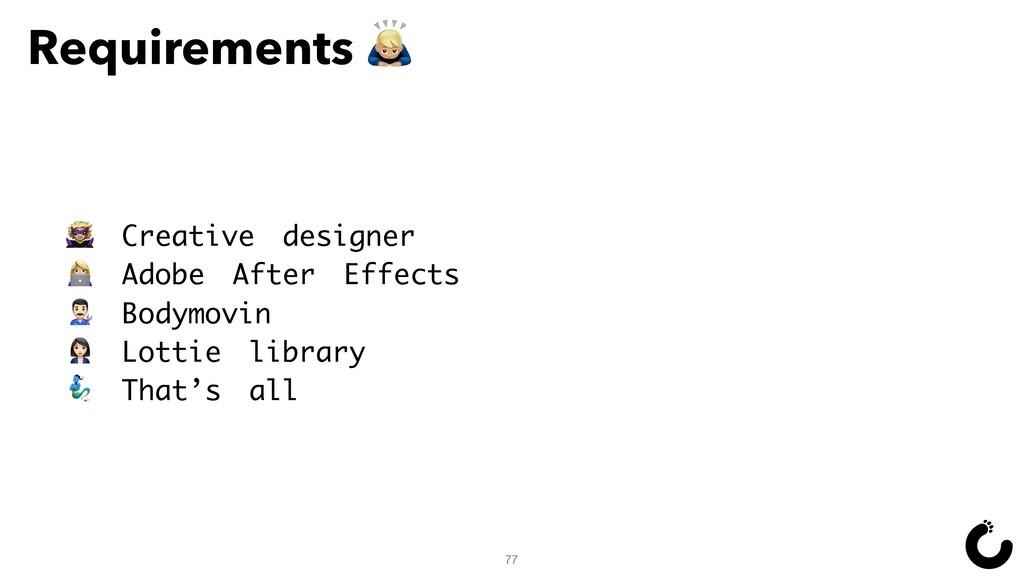 Requirements Œ 77 • Creative designer ` Adobe A...