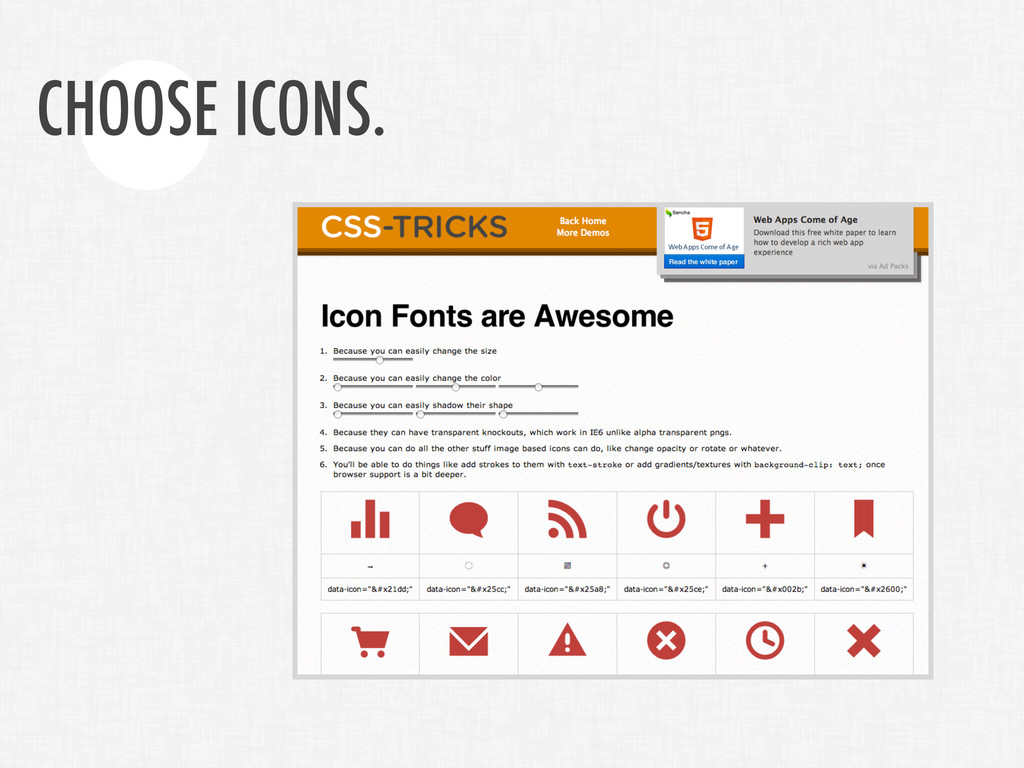 CHOOSE ICONS.