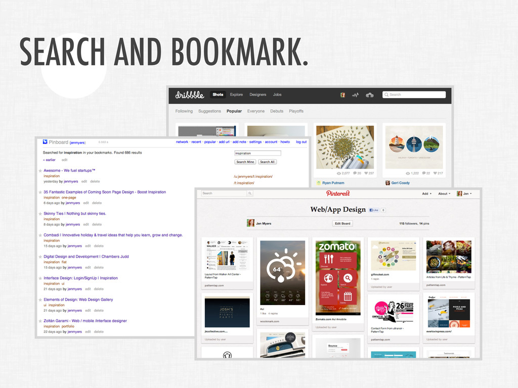SEARCH AND BOOKMARK.