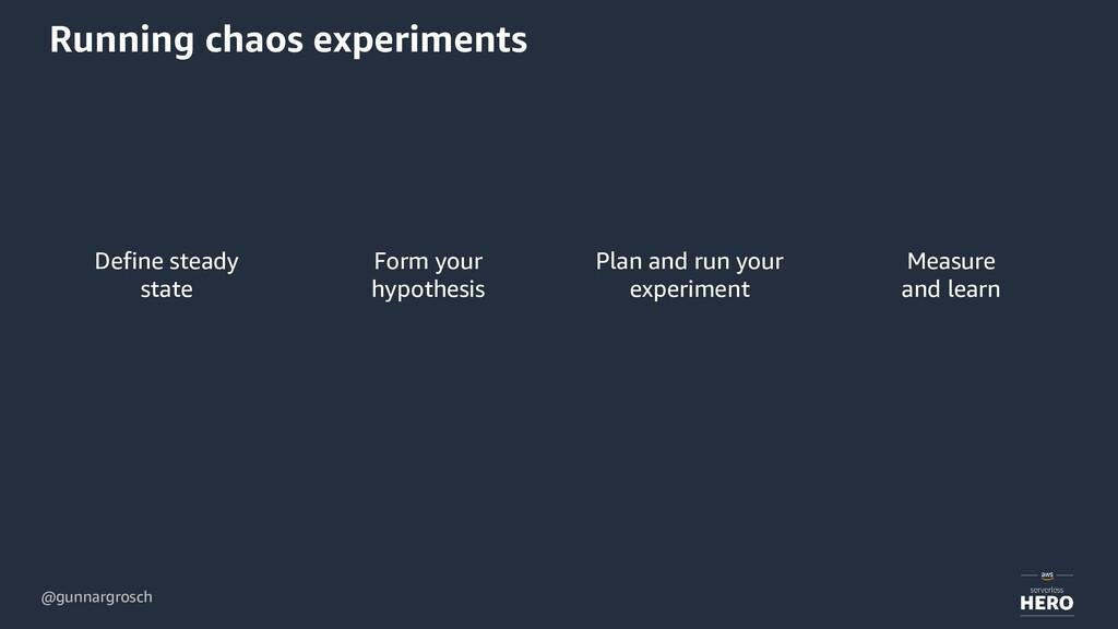 @gunnargrosch Running chaos experiments Define ...
