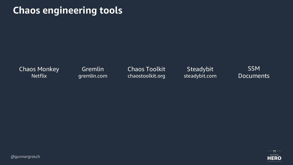 @gunnargrosch Chaos engineering tools Chaos Mon...