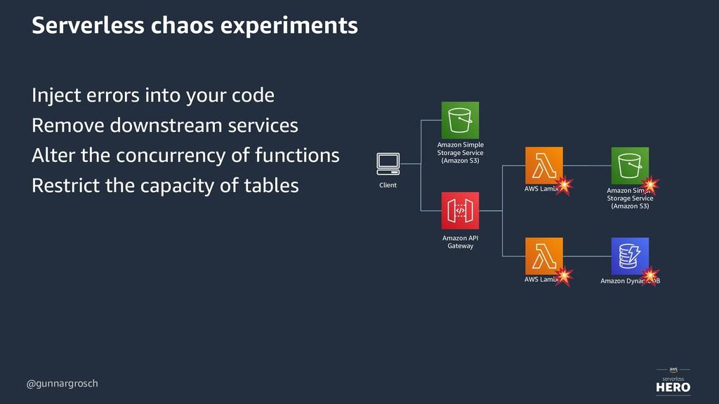 @gunnargrosch Serverless chaos experiments Inje...