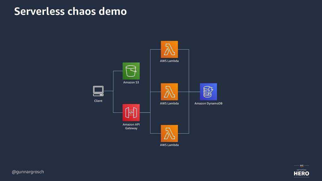 @gunnargrosch Serverless chaos demo Client Amaz...