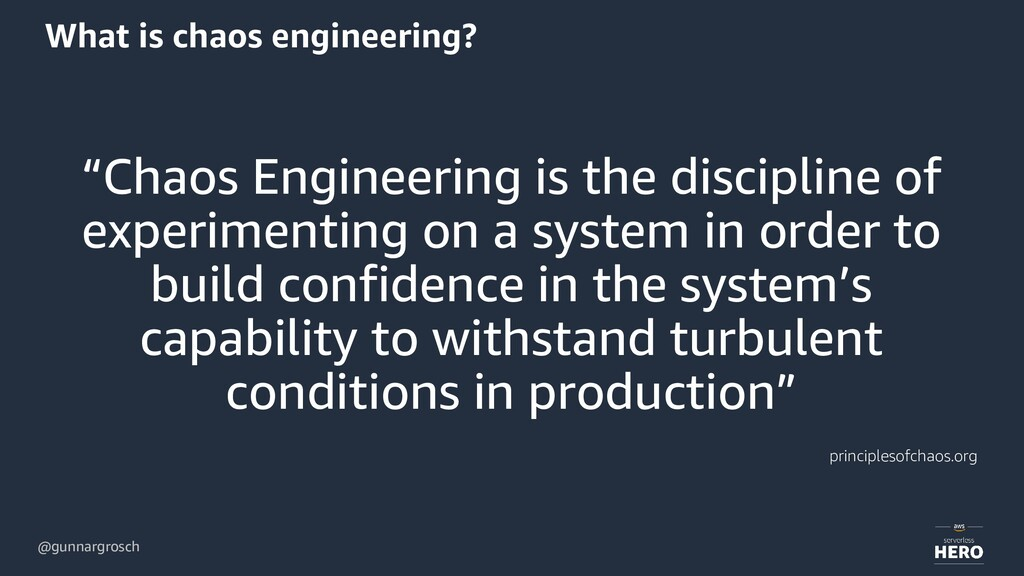 """@gunnargrosch What is chaos engineering? """"Chaos..."""