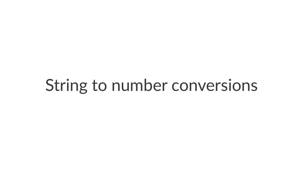 String'to'number'conversions
