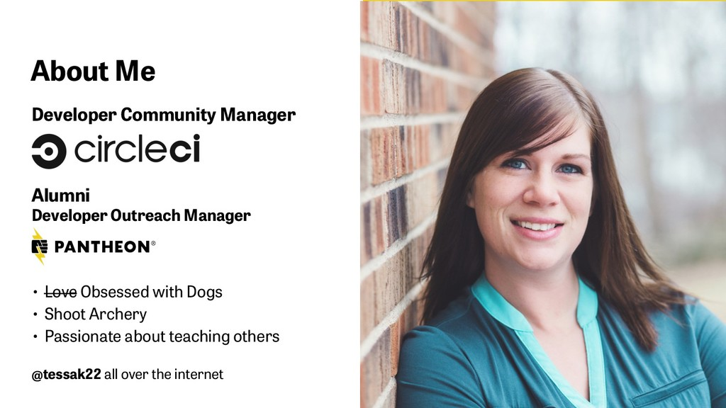 About Me Developer Community Manager 