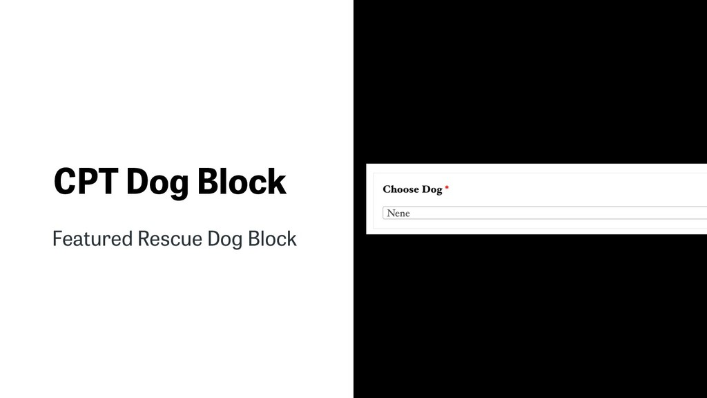 CPT Dog Block Featured Rescue Dog Block