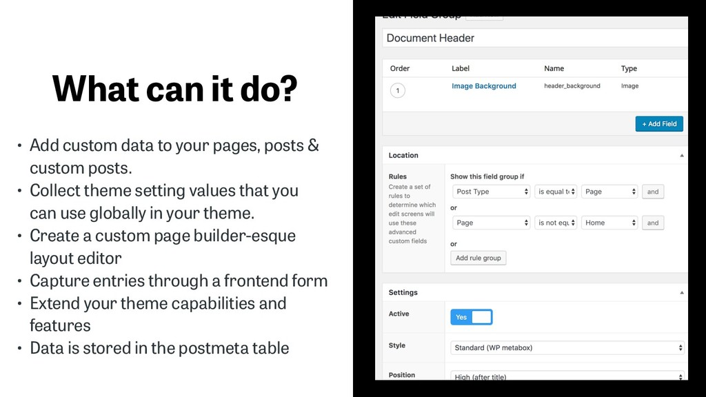 What can it do? • Add custom data to your pages...
