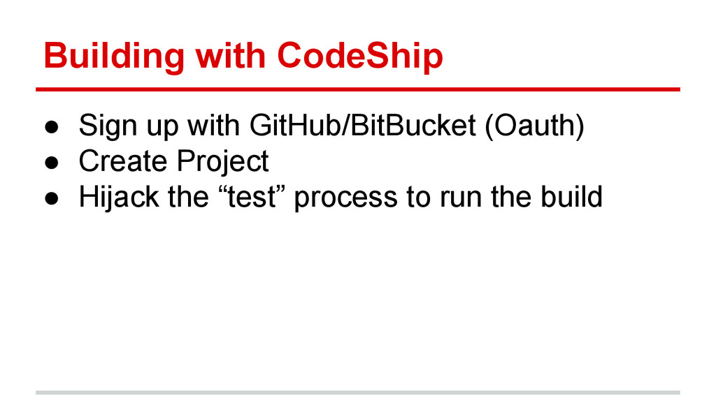 Building with CodeShip ● Sign up with GitHub/Bi...