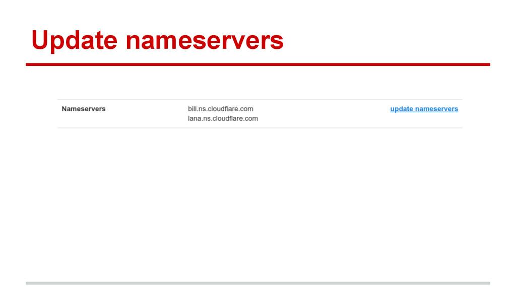 Update nameservers
