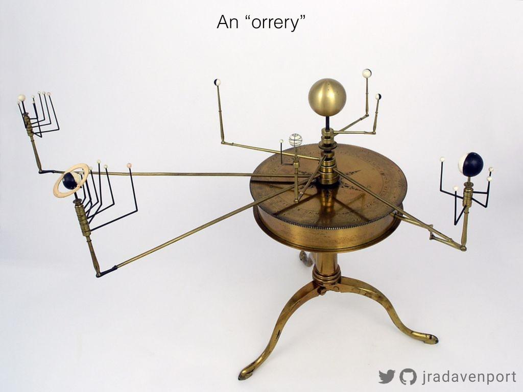"!12 An ""orrery"" jradavenport"