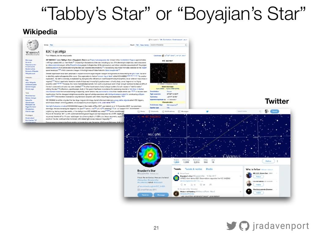 "!21 jradavenport Wikipedia Twitter ""Tabby's Sta..."