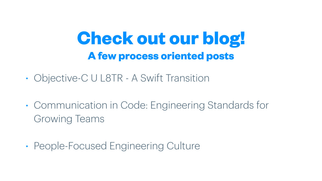 Check out our blog! • Objective-C U L8TR - A Sw...