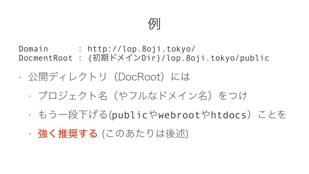 ྫ Domain : http://lop.8oji.tokyo/ DocmentRoot :...