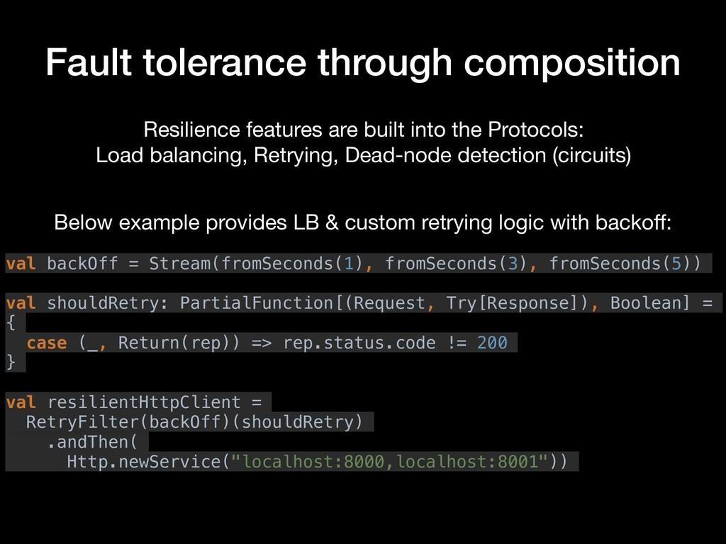 Fault tolerance through composition Resilience ...