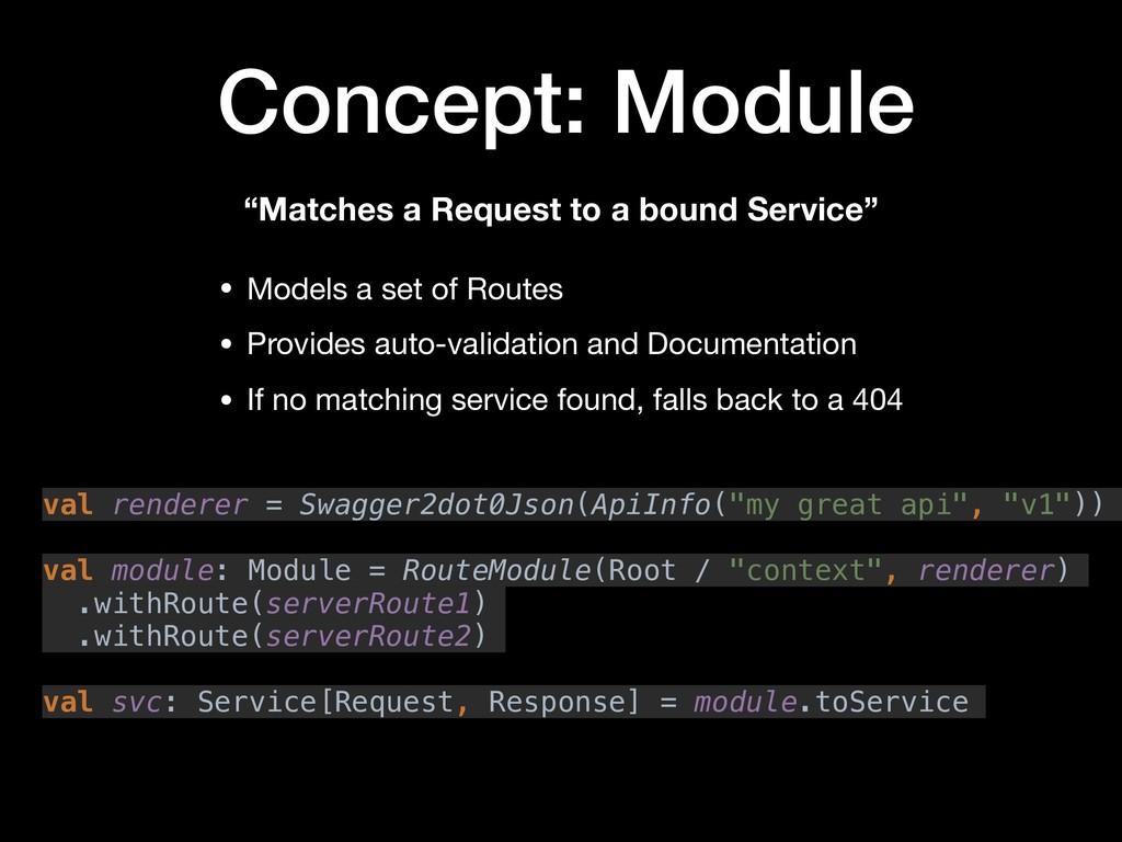 Concept: Module val renderer = Swagger2dot0Json...