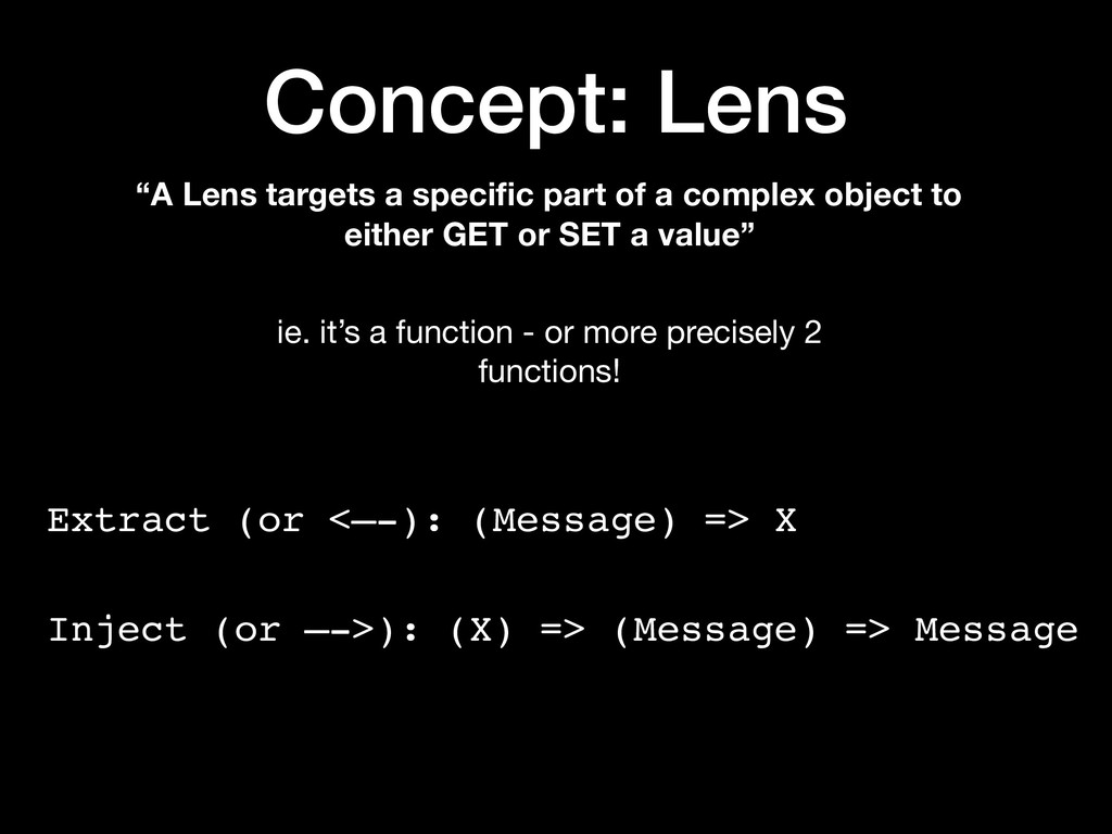 "Concept: Lens ""A Lens targets a specific part of..."