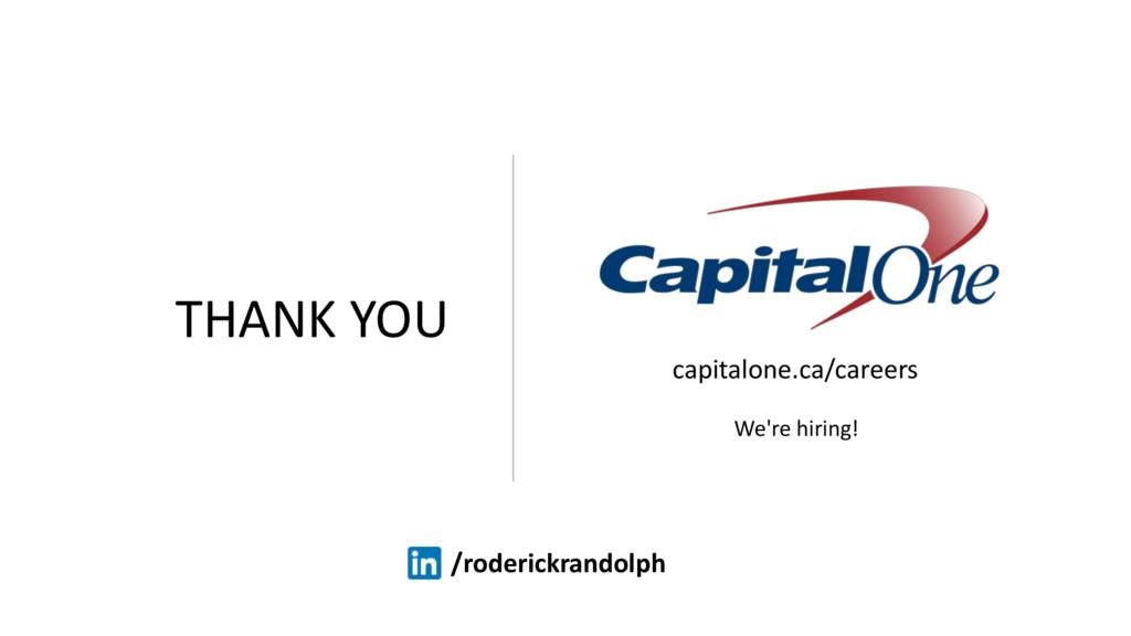THANK YOU capitalone.ca/careers We're hiring! /...