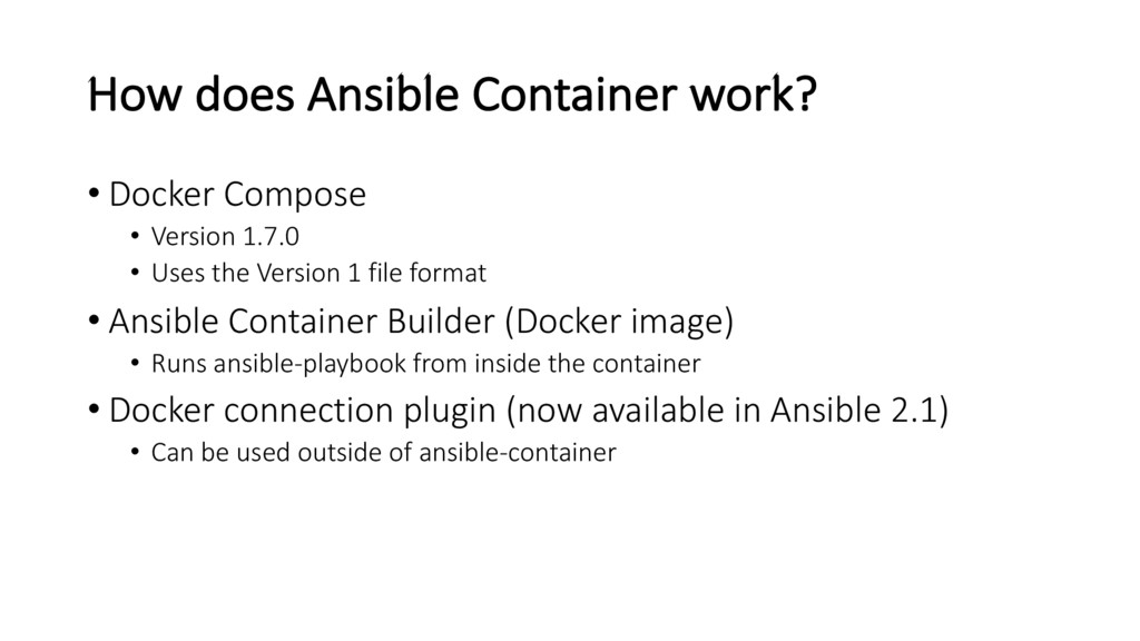 How does Ansible Container work? • Docker Compo...