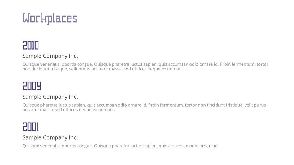 Sample Company Inc. Quisque venenatis lobortis ...