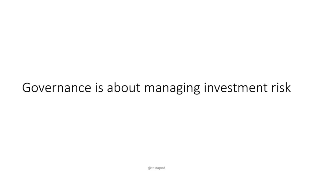 Governance is about managing investment risk @t...