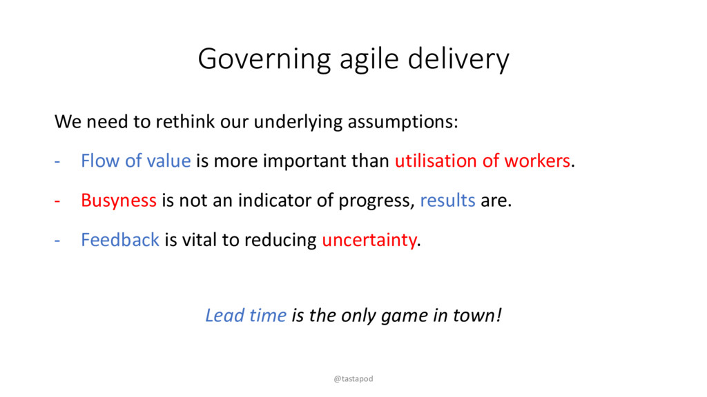 Governing agile delivery We need to rethink our...