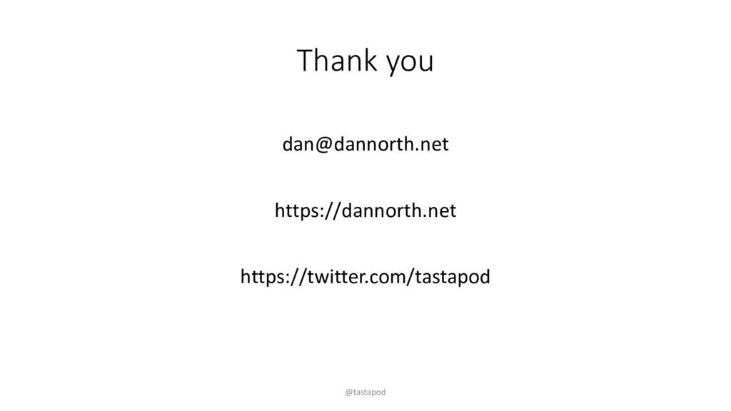 Thank you dan@dannorth.net https://dannorth.net...