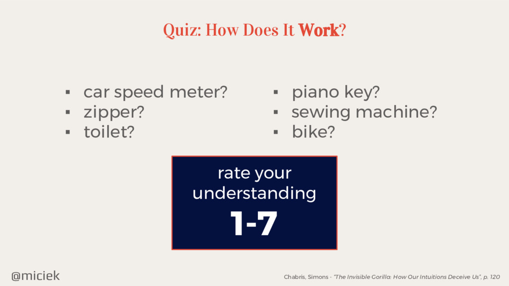 @miciek Quiz: How Does It Work? ▪ car speed met...