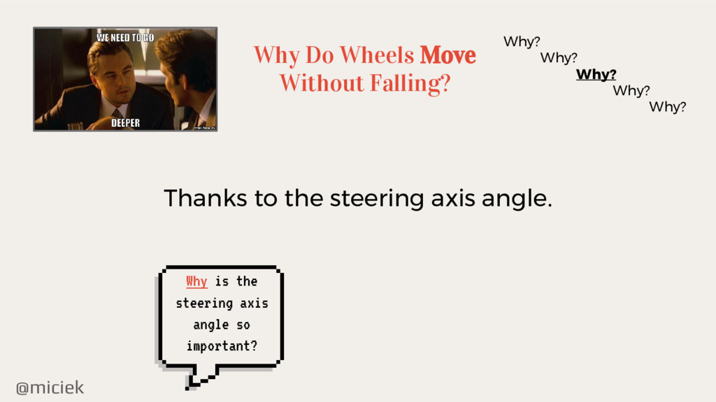 @miciek Why Do Wheels Move Without Falling? Why...