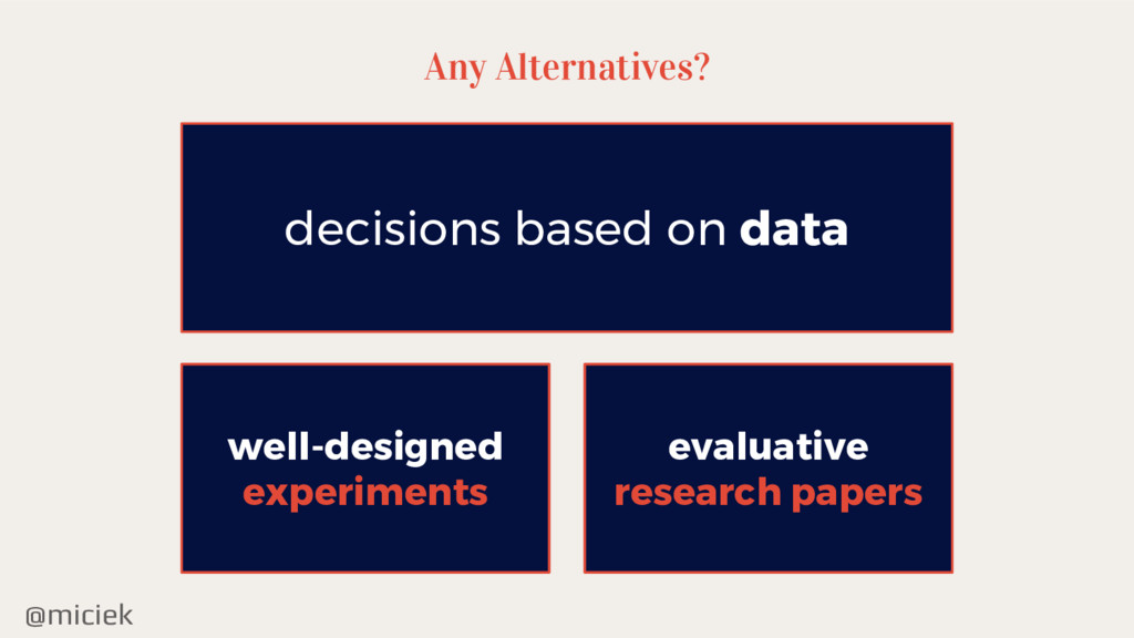 @miciek Any Alternatives? decisions based on da...