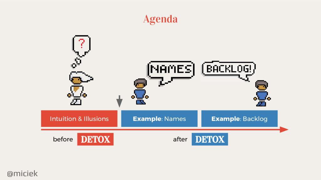@miciek Agenda Intuition & Illusions Example: N...