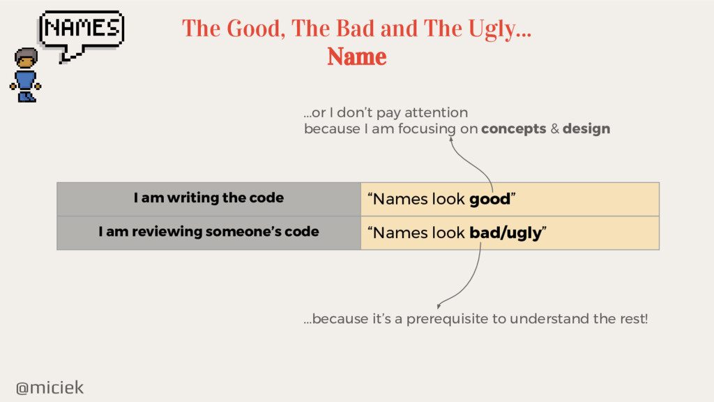 @miciek The Good, The Bad and The Ugly... Name ...
