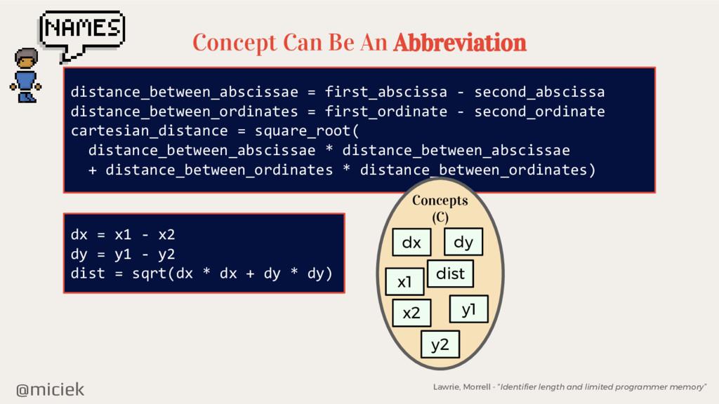 @miciek Concept Can Be An Abbreviation distance...